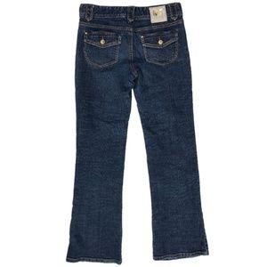 Michael Kors Bootcut Jeans Dark Blue Flat Front 4